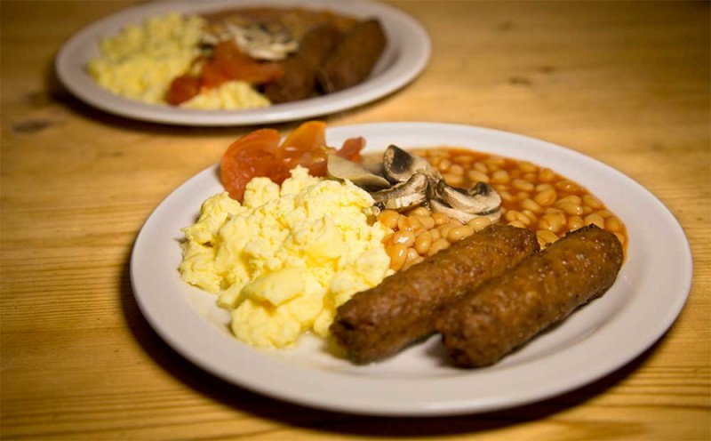 Edinburgh Cafe - Vegetarian Breakfast