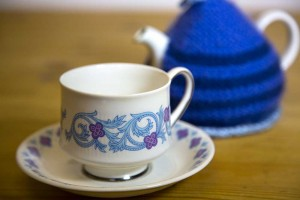 Edinburgh Cafe - tea cup and cosy