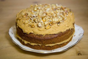 Edinburgh Cafe - Coffee and Walnut cake